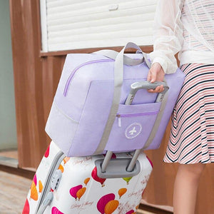New Women Trolley Case Boarding Bag Large Capacity Folding Travel Bag Organizer Clothing Storage Bag Abroad Luggage Sorting Bag - ZainO