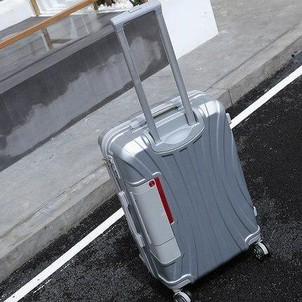 PC Rolling Suitcase with Cup holder,Travel Luggage Bag ,Universal wheel trip Trolley Case,20