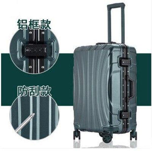 "PC Rolling Suitcase with Cup holder,Travel Luggage Bag ,Universal wheel trip Trolley Case,20""22""24""26""28"" inch High quality Box - ZainO"