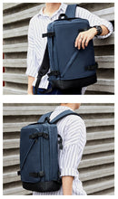 Load image into Gallery viewer, Laptop Backpack Men Office Work Men Backpack Casual School Bag Unisex Travel Multifunctional Waterproof Backpack - ZainO
