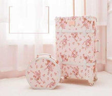 Load image into Gallery viewer, Retro PU Leather Rolling Luggage Sets Spinner Vintage Women Suitcase Wheel Trolley Women's Handbag Travel Bag - ZainO