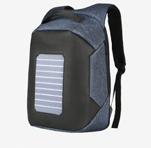 Load image into Gallery viewer, plecak Solar Powered Designer bagpack men mochila usb charging anti theft backpack Travel 15.6'' laptop backpack men waterproof - ZainO