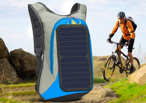 6W 6V USB Backpack Solar Panel Battery Power Bank Charger for Smartphone Outdoor Camping Climbing Travel Hiking - ZainO