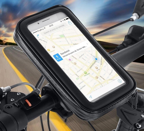 Waterproof Bicycle Cell Phone Holder Motorcycle Handlebar Bag Case for iPhone Xs Xr X 8 7Plus Bike Phone Mount for Samsung S9 S8 - ZainO