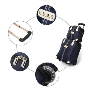 Trolley Luggage Rolling Suitcase Travel Hand Tie Rod Suit Casual  Rolling Case Travel Bag Wheels Luggage Suitcase - ZainO