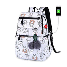 Load image into Gallery viewer, school bags for girls female laptop backpack usb backbag children backpacks cute cat school backpack for girls bag pack - ZainO