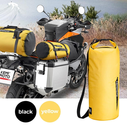 Motorcycle Bag Outdoor PVC Dry Sack Bag Waterproof 10L 20L 30L, Shoulder, Bag, Diving, Swimming, Hiking Driving Travel Kits - ZainO