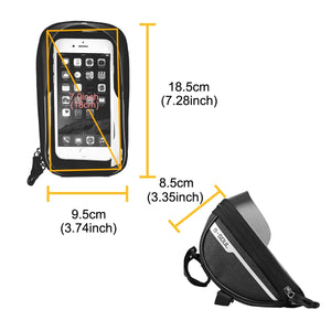 B-SOUL Cycling Bicycle Bike Head Tube Handlebar Cell Mobile Phone Bag Case Holder Screen Phone Mount Bags Case For 6.5in - ZainO