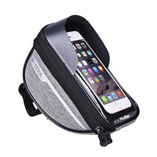 Load image into Gallery viewer, B-SOUL Cycling Bicycle Bike Head Tube Handlebar Cell Mobile Phone Bag Case Holder Screen Phone Mount Bags Case For 6.5in - ZainO