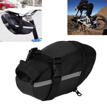 Load image into Gallery viewer, Outdoor Waterproof Bicycle Tail Bag Cycling Bike Back Seat Oxford Cloth Saddle Bag For BikeTail Backpack Black - ZainO