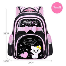 Load image into Gallery viewer, School Bag Fashion Cute Girls With Cute Cat Orthopedic  Waterproof Backpack - ZainO