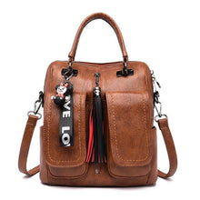 Load image into Gallery viewer, Women Backpacks Vintage Female Shoulder Bags Soft Leather Backpack Ladies Travel Back Pack Luxury Bags for Girls Mochila - ZainO