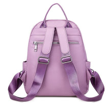 Load image into Gallery viewer, Soft PU leather ladies backpack new youth female schoolbag trend multifunctional travel bag luxury designer ladies - ZainO