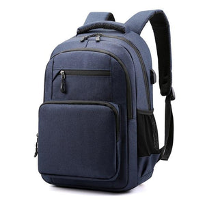 Waterproof school backpack for teenagers boy usb charge bagpack male bags college student backpack for school book bag - ZainO