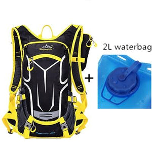 18L Waterproof Backpack Outdoor Sport Backpack Water Bag Camping Hiking Cycling Water Backpack with Free Raincover - ZainO