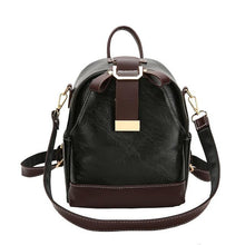 Load image into Gallery viewer, Ladies stitching backpack soft leather youth girl school bag new luxury designer ladies multi-function travel bag 4 colors - ZainO
