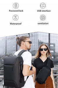 Backpack Men New  Backpack Computer15.6 Inch Backpack  USB Interface Men's Waterproof Large Capacity Shoulder Bags   for Trip - ZainO