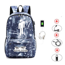 Load image into Gallery viewer, Backpack USB Charging Daypack Hip Hop Style Outdoor Travel Shoulders Bag Laptop Sport - ZainO