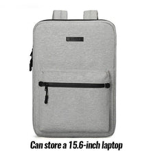 Load image into Gallery viewer, DIENQI New Nylon Ultra-thin Men's Backpack Anti-theft Thin 15 inch Laptop Man Bag Waterproof Outdoor Business Work Small Backbag - ZainO