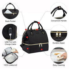 Load image into Gallery viewer, multifunctional bag canvas unisex waterproof leakproof anti-thieft for lunch school work travel 2020 - ZainO