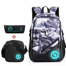 Load image into Gallery viewer, Oxford Backpack 3 Pcs/set Boys High School Backpacks Schoolbag For Teenagers Boy Student Book Bag Girls Satchel School Bags - ZainO