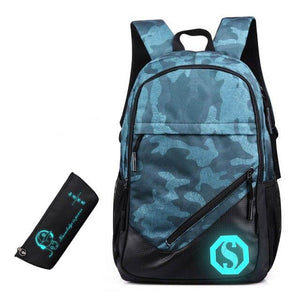 Oxford Backpack 3 Pcs/set Boys High School Backpacks Schoolbag For Teenagers Boy Student Book Bag Girls Satchel School Bags - ZainO