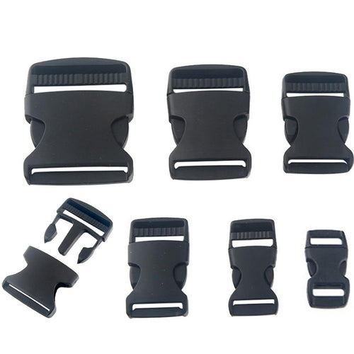 10-50mm Black Plastic Webbing Bag Strap Clasps For Bag Adjustable Side Release Clips Buckles Bag Part Accessories Fermoir Sac - ZainO