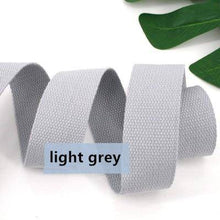 Load image into Gallery viewer, 38mm polyester/cotton thick plain canvas belt webbing Backpack strap luggage accessories bag making sewing DIY craft - ZainO