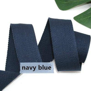 38mm polyester/cotton thick plain canvas belt webbing Backpack strap luggage accessories bag making sewing DIY craft - ZainO