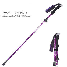 Load image into Gallery viewer, EVA Handle 4-Section Folding Walking Sticks Canes  Hiking Poles Trekking Poles Alpenstock 1PC SES0046 hiking stick crutches - ZainO