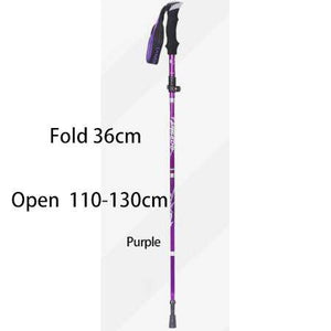 5-Section Outdoor Fold Trekking Poles Walking Stick For Nordic Walking Hiking Naturehike Antishock Walking Stick Or Elderly - ZainO