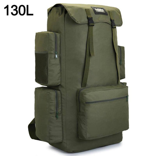 110L 130L Men Hiking Bag Camping Backpack Large Army Outdoor Climbing Trekking Travel Rucksack Tactical Bags Luggage - ZainO