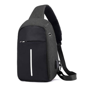 Single Shoulder Backpack Anti-theft Backpack Men's Burglar USB Charging Crossbody Bag Men&Female Stealth Zipper Bag - ZainO