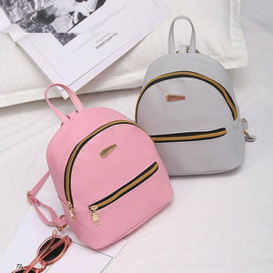 Mini Backpack Style PU Leather Shoulder Bag For Teenage Girls Multi-Function Small Bagpack Female Phone Pouch - ZainO