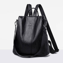 Load image into Gallery viewer, Women's Bag Leather New Fashion Backpack Outdoor Large Capacity Bag Single Shoulder Bag Student Backpack Anti Theft Travel Bag - ZainO