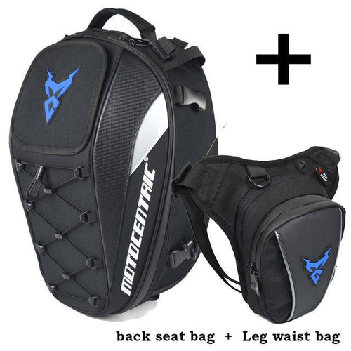 Motorcycle Rear Seat Bags Back Bags Waist Leg Bag Top Case Motorbike Bag Running Sport Luggage Climbing Fishing Cycling Pack - ZainO