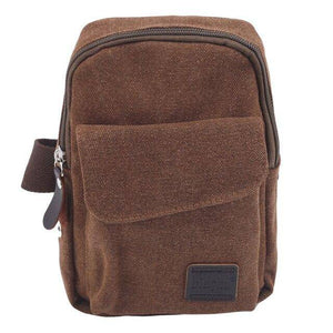 fashion Men's Small Chest Sling Bag Travel Hiking Cross Body Messenger Shoulder Backpack Solid Men Canvas Bag - ZainO