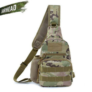 Outdoor Bags Oxford Backpack Tactical Molle Chest Pack Single Sling Shoulder Bag Crossbody Pouch Climbing Hiking Bag - ZainO