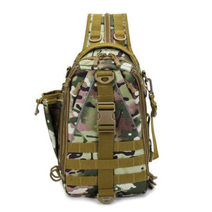 Outdoor Mountaineering Bag Multi-Functional Single-Shoulder Dual-Use Backpack Camouflage Tactical Bag Sports Chest Bag - ZainO