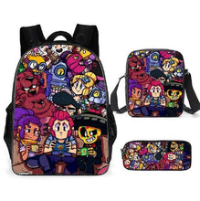 Load image into Gallery viewer, Leon Spike Shell Game School Bag for Teenager Boys Girls Kids Personized Schoolbag 3pcs sets Supplier Children Hot Game Backpack - ZainO