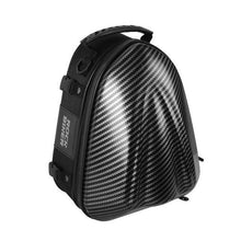 Load image into Gallery viewer, Rock Biker Hard Shell Motorcycle Tail Bag Waterproof Carbon Fiber Motorbike Rear Back Seat Bags Motorcycle Backpack Bag Luggage - ZainO
