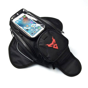 Motorcycle Magnetic Tank Bag Waterproof Motorbike Saddle Bag Shoulder Bag Backpack Luggage Phone Case Holder For IPhone Xiaomi - ZainO