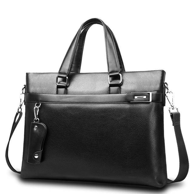 Promotions New Fashion Bag Men Briefcase PU Leather Men Bags Business Brand Male Briefcases Handbags Wholesale High Quality - ZainO