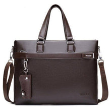 Load image into Gallery viewer, Promotions New Fashion Bag Men Briefcase PU Leather Men Bags Business Brand Male Briefcases Handbags Wholesale High Quality - ZainO