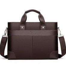 Load image into Gallery viewer, Business Men's Briefcase High Quality Totes Leather Men Laptop Handbags - ZainO