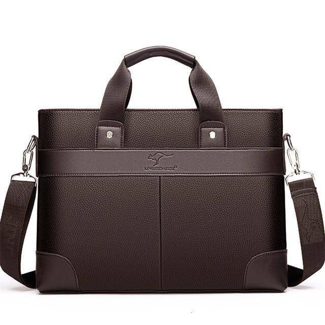 Business Men's Briefcase High Quality Totes Leather Men Laptop Handbags - ZainO