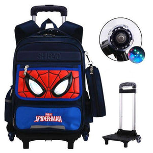 Trolley school bag orthopedics schoolbags for Boy Girl Children waterproof Teenager School Backpack Kids Student Backpacks - ZainO