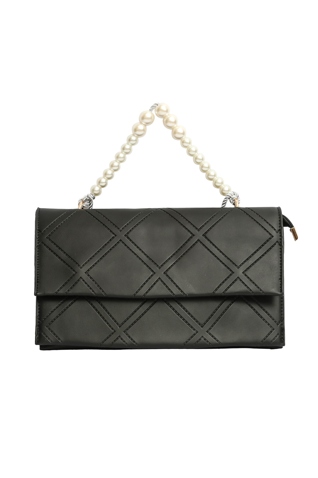 Pearl Handle Clutch - Black