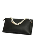 Load image into Gallery viewer, Pearl Handle Clutch - Black