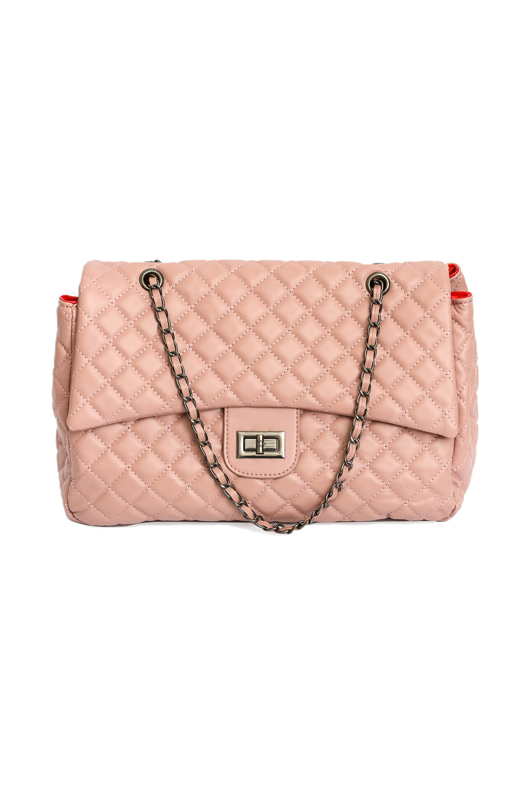 Quilted Chain Bag - Pink